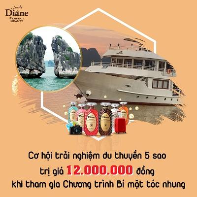 """""""Bí mật tóc nhung Moist Diane"""" rinh quà khủng trải nghiệm du thuyền 5 sao Hạ Long"""