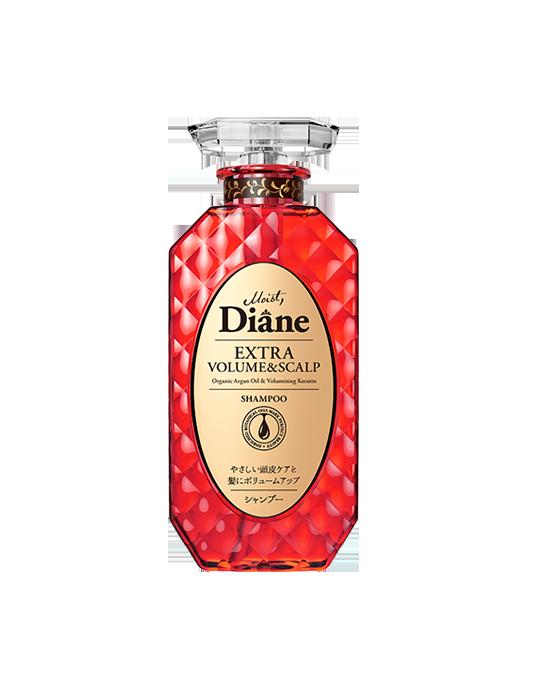 Dầu gội hỗ trợ mọc tóc & làm phồng tóc Moist Diane Extra Volume & Scalp