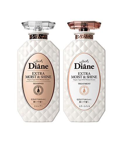 Cặp Gội Xả Phục Hồi Tóc Sáng Bóng Moist Diane Extra Shine