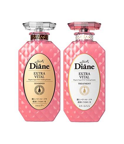Cặp Gội Xả Tăng Cường Sức Sống Cho Tóc Yếu Moist Diane Extra Vita