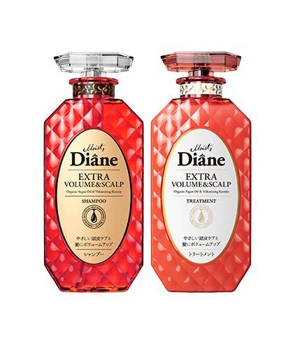 Cặp Gội Xả Hỗ Trợ Mọc Tóc & Làm Phồng Tóc Moist Diane Extra Volume & Scalp