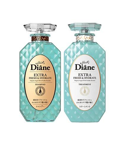 Cặp Gội Xả Kiểm Soát Dầu Moist Diane Extra Fresh & Hydrate