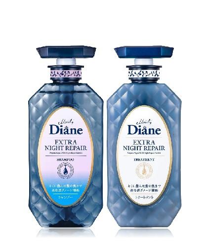 Cặp Gội Xả Ngăn Ngừa Lão Hóa Tóc Ban Đêm Moist Diane Extra Night Repair